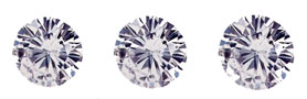example of synthetic diamond cut round brilliant