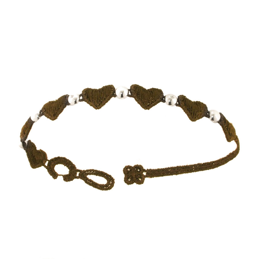 Bracelet Damiani by Cruciani, woman, macramé fabric - Brown.