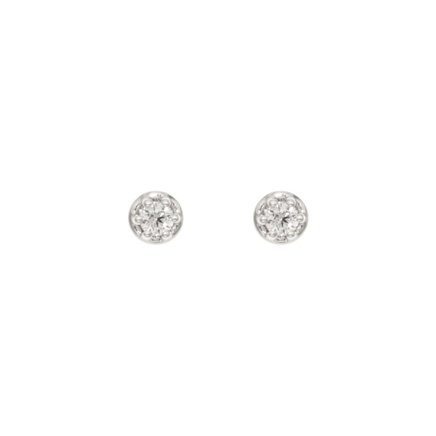 round sterling cut cz silver earrings white stud and brilliant black