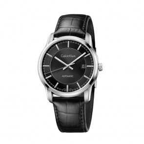 watch-man-ck-swiss-infinite-collection-automatic-steel-case-black-leather-strap-dial-black-silver