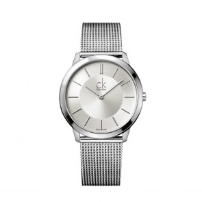 watch-man-ck-swiss-minimal-collection-case-mm40-steel-canvas-steel-strap-dial-silver-grey-black-index