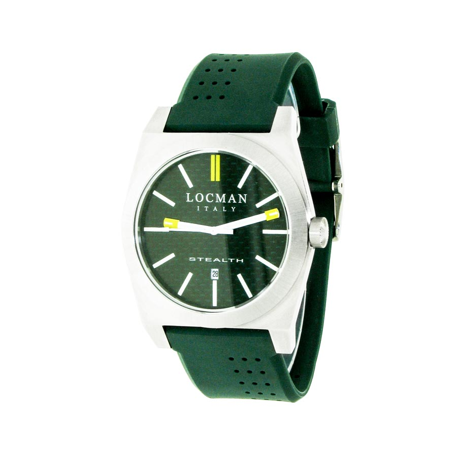 face watch movement hybrid mechaquartz next ferro pilot case black grey strap watches steel products airborne stainless green dial