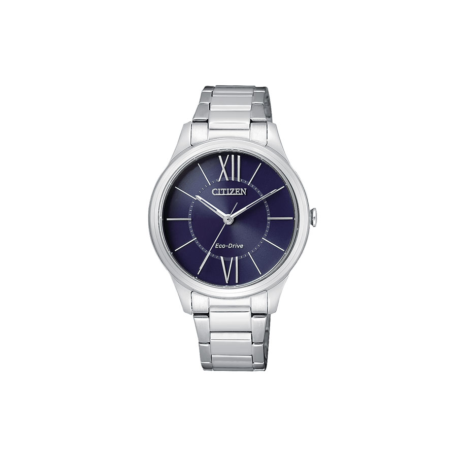 Orologio donna, CITIZEN OF Collection, Lady 0410 - cassa e bracciale Acciaio - quadrante Blu.
