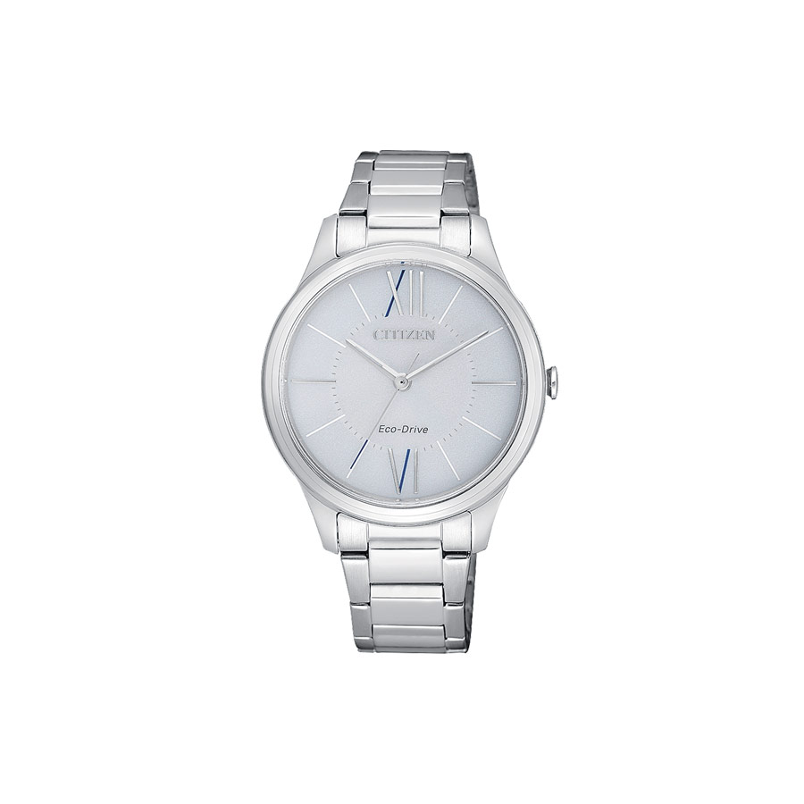 Watch woman, CITIZEN OF Collection, Lady 0410 - Steel case and bracelet -  Silver dial