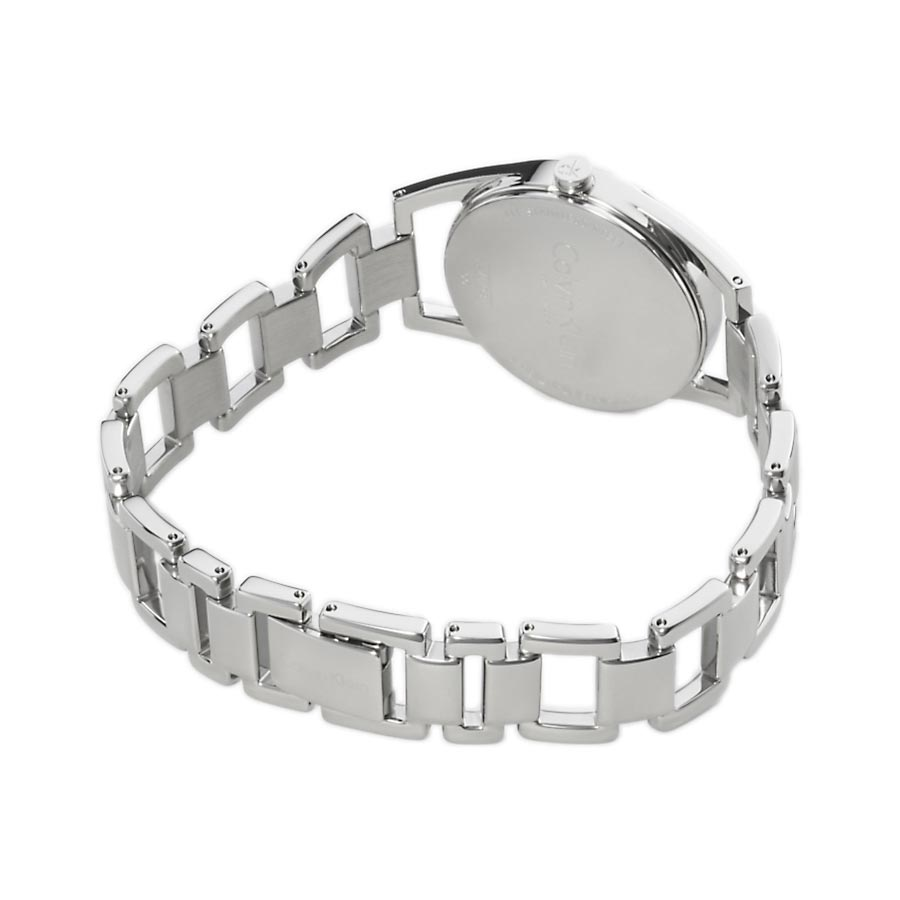 9726625628 Watch woman, CK (Calvin Klein), Dainty collection - Steel case and strap -  Silver dial.
