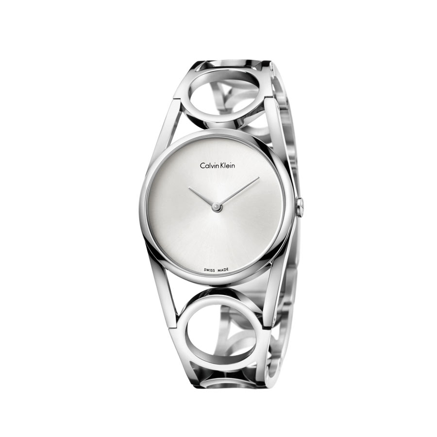 calvin ck girl stately steel mirror woman dial and quartz case watches silver klein collection watch en strap